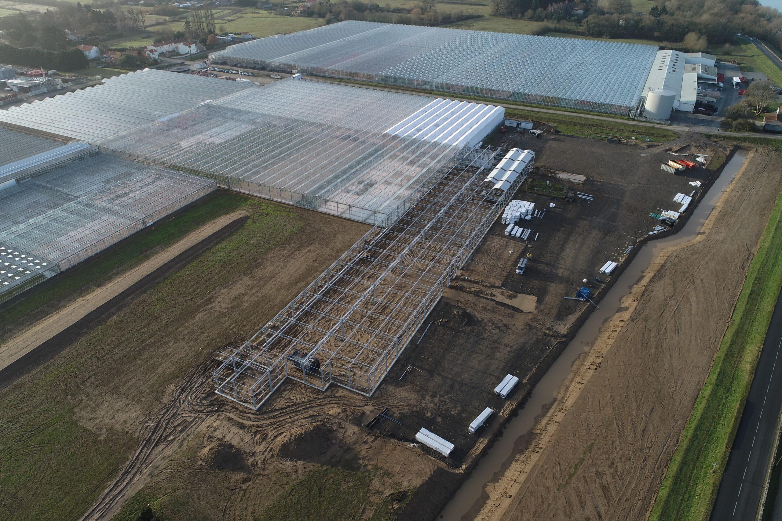 Construction du nouveau hall de semis